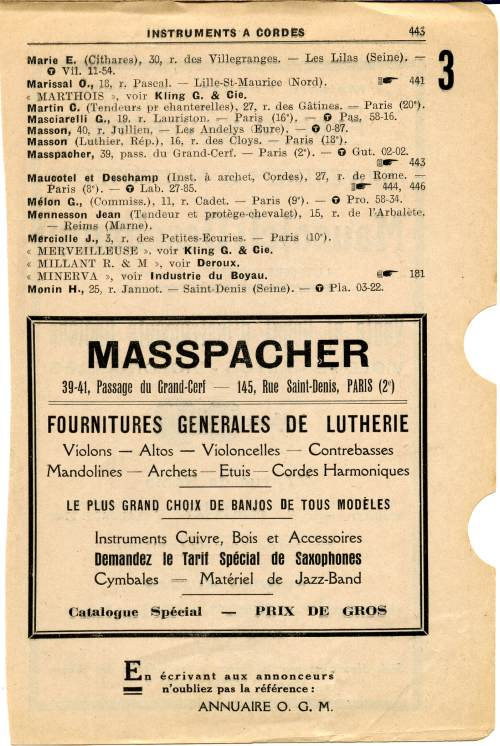 Annuaire OGM 1932.
