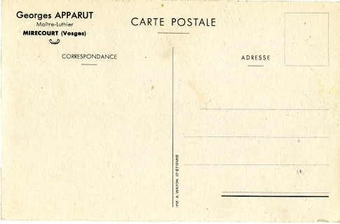 Georges Apparut, carte postale.