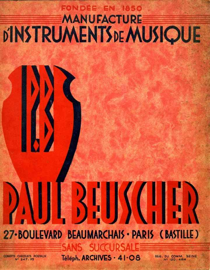 Catalogue Paul Beuscher à Paris.