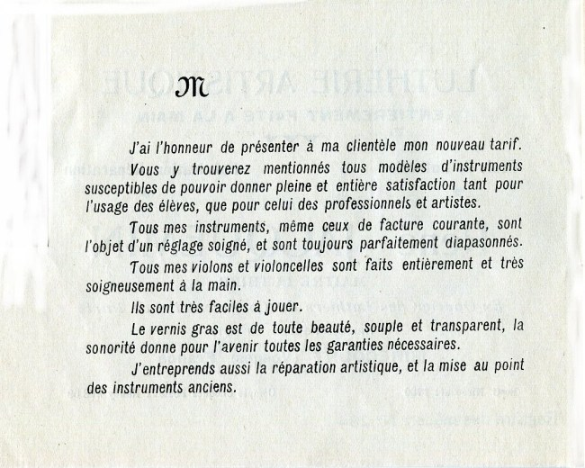 Catalogue René Jacquemin.