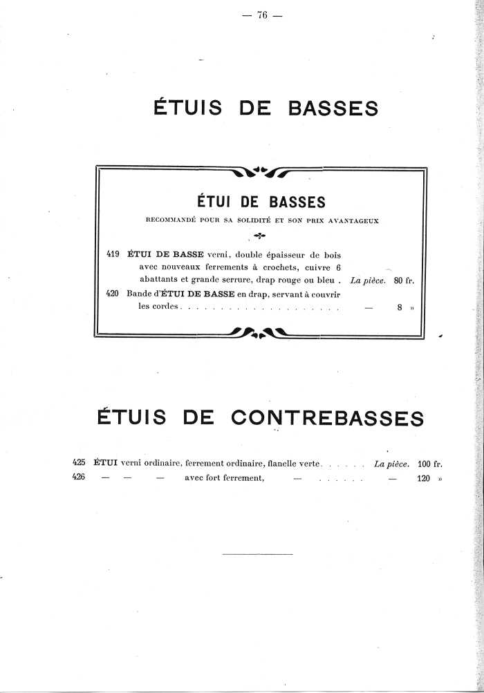 Catalogue de lutherie. Laberte à Mirecourt. 1905.