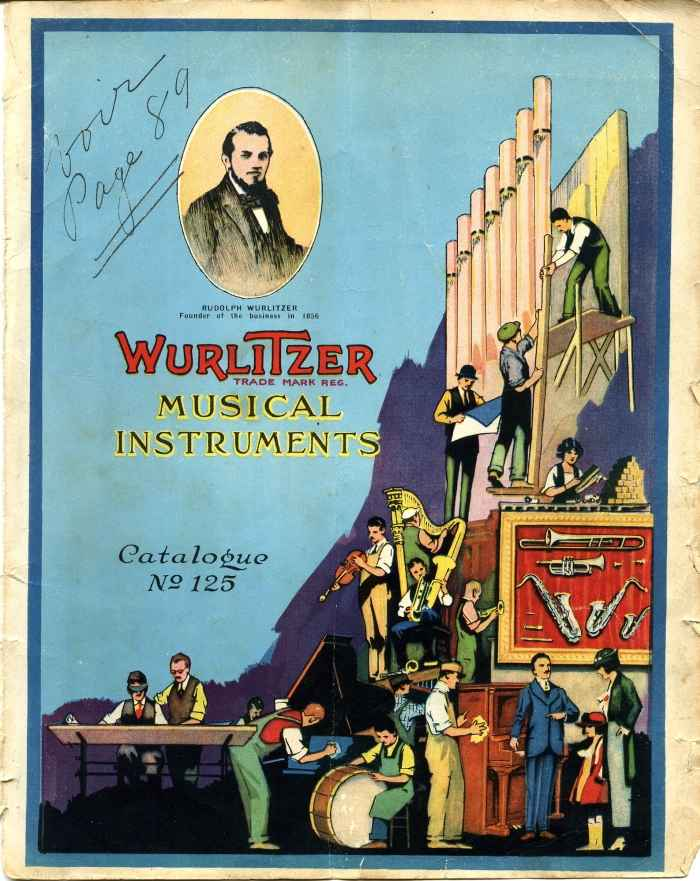 Catalogue Wurltizer 1922. Amédée Dieudonné.